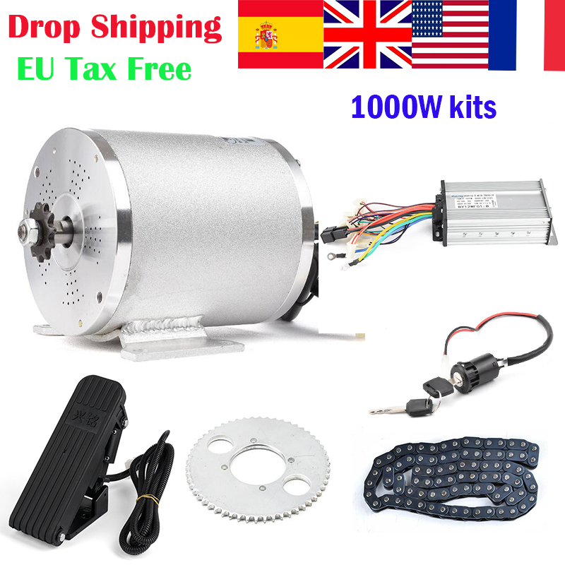 36V 48V 1000W Bicicleta Electrica Motor Electric Bicycle Conversion Kit Ebike Mounting Electric Bicycle Motor Kit With Pedal