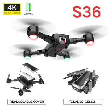 Wifi FPV Foldable RC Drone With 4K HD Camera Altitude Hold 3D Flips Headless Mode RC Helicopter Aircrafts