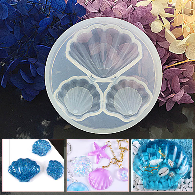 New Silicone Mold Shell Epoxy Resin DIY Jewelry Making Crafts Cake Pendant Great For DIY Tools Accessories