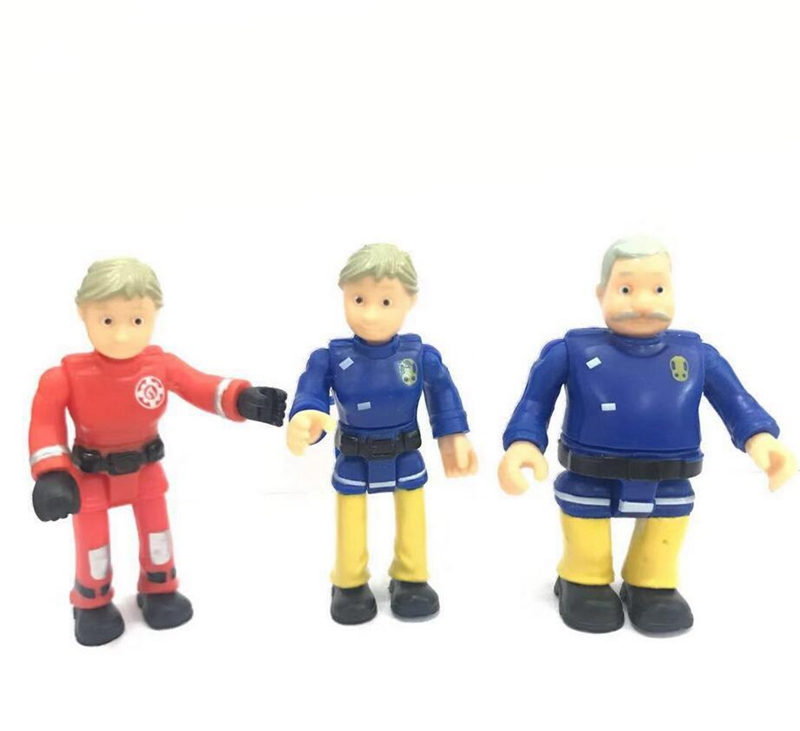 Cartoon Fireman Sam Figure Toy Firefighters Figurine Steele Penny Norman PVC Model Mini Kids Toy Dolls