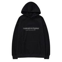 Qoolxcwear 2019 homem/mulher hip hop moletons moletom solto ovesize grade preta hoodies moletom de algodão