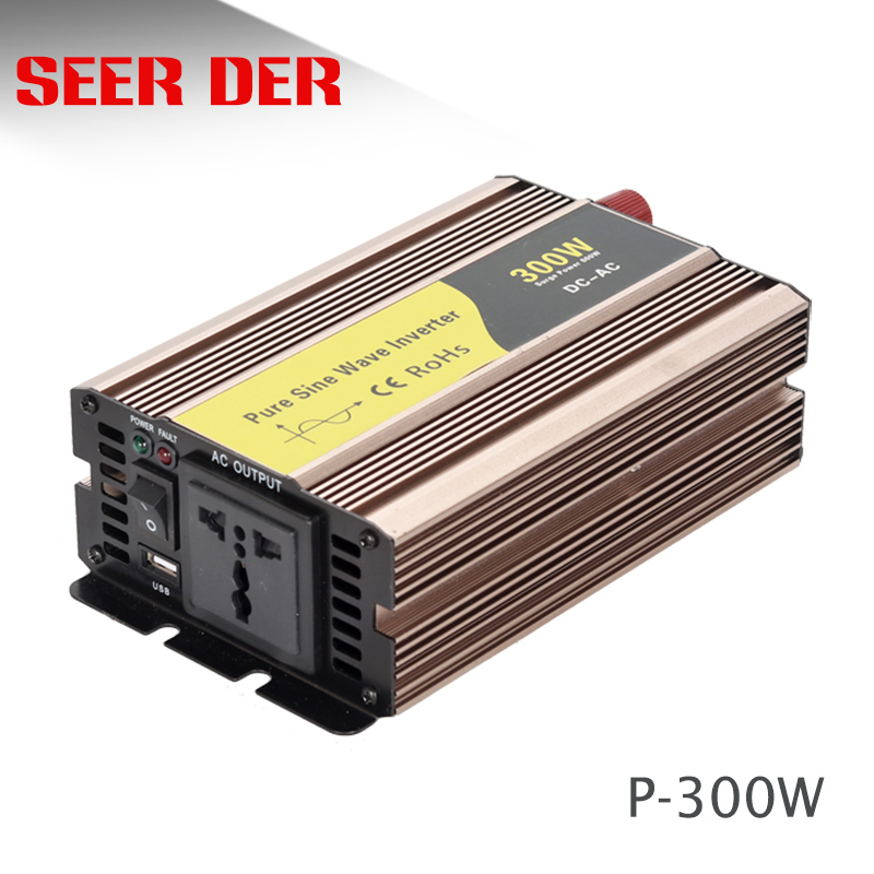 Reine sinus welle 300 <font><b>watt</b></font> dc 12v ac 220v power <font><b>inverter</b></font> image