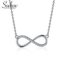 925 серебро повезло 8 Чиан Ожерелье для женщин серебряные ювелирные изделия