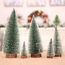 1 stücke mini Weihnachten baum kiefer nadel beflockung gebeizt weiß zeder desktop ornamente DIY schießen requisiten szene dekoration
