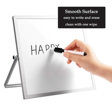 1Pc Small Magnetic White Board for Desk Double-Sided Desktop Tabletop Dr y Era se Board with Stand for students Home