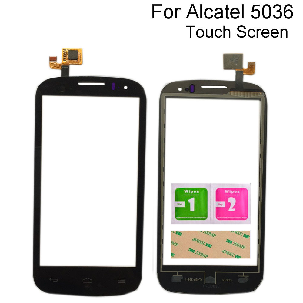 <font><b>Touch</b></font> Screen Digitizer Panel For <font><b>Alcatel</b></font> <font><b>One</b></font> <font><b>Touch</b></font> POP C5 5036 OT 5036 <font><b>5036D</b></font> 5037 5037E OT5036 Digitizer Panel Sensor Tools image