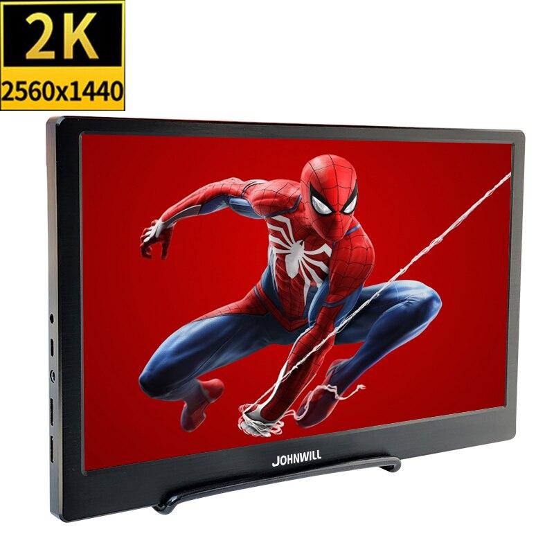 13.3 pouces 2K Portable IPS FHD écran 2560x1440 CNC Shell HDMI/USB haut-parleur intégré pour Raspberry Pi PS4 15.6