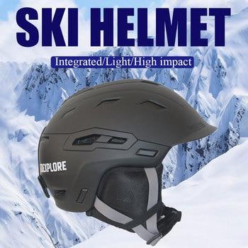 Ski Helmet Windproof Warm Riding Helmet For Outdoor Reinforced ABS Shell Shock-absorbing EPS Core Adjustable Vents Suit Goggles