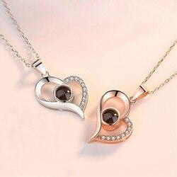 Ожерелье JQUEEN, из стерлингового серебра 925 пробы с подвеской в виде сердца