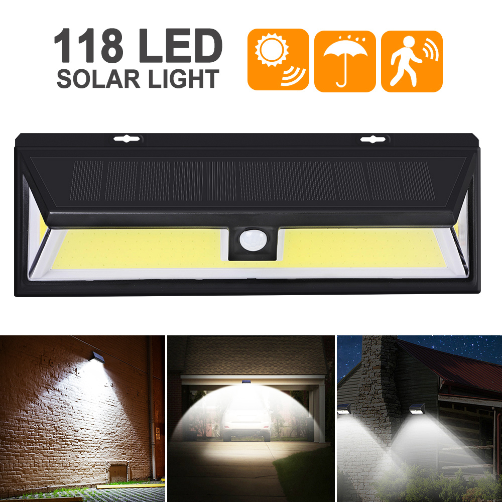 Outdoor 180 LED COB 3 Modes Solar Lamp PIR Motion Sensor 4000LM Solar Wall Light Waterproof Emergency Garden Yard Lamps