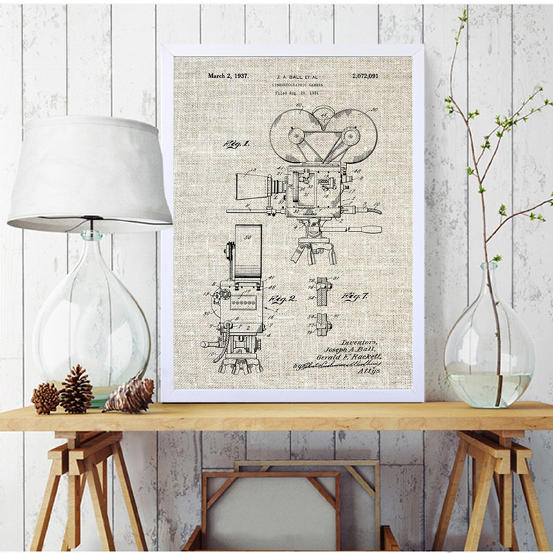 Camera Patent Poster Wall Art Print