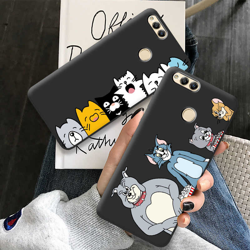 "Voor Huawei Honor 7X 7S 7A Telefoon Case Voor Huawei Honor 7C 5.99 ""Honor 7A Case Cover Tom jerry Cartoon Silicone Back Cover Shell"