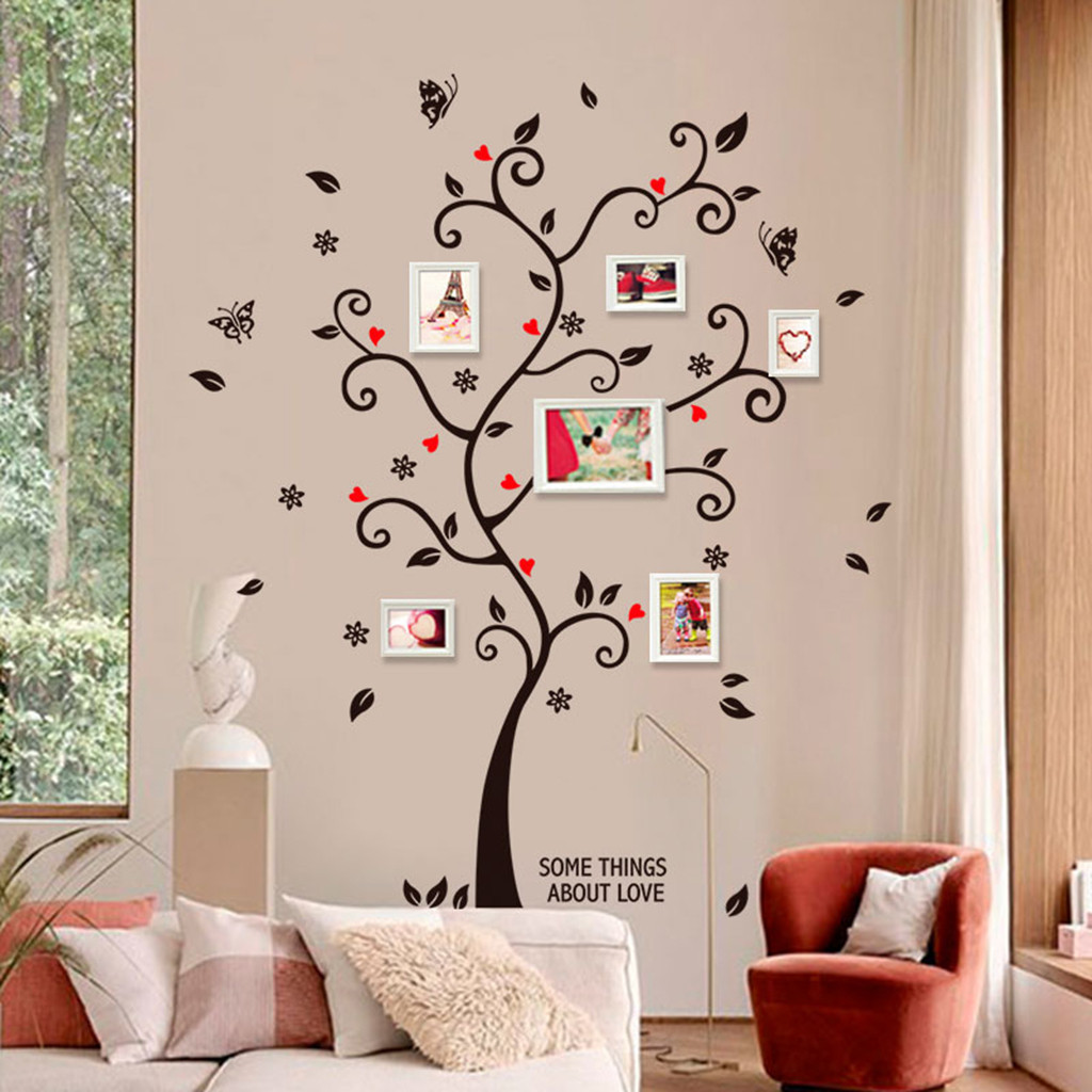 US $11.111 11% OFFLove Memory Photo Tree Wall Sticker Home Decor Wall  Stickers Living Room Decoration Bedroom Decoration Art Wallpaper Home  DecorWall