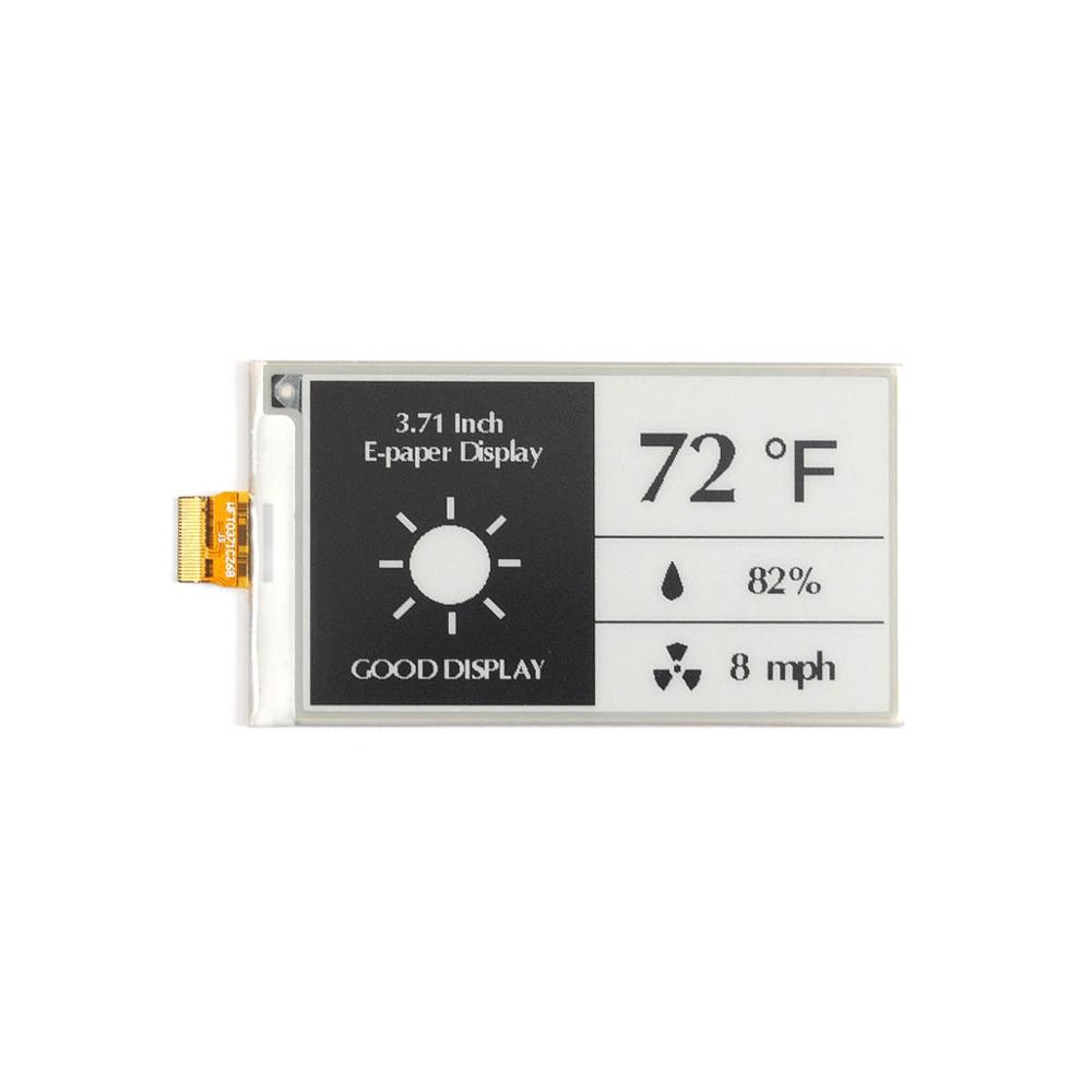 3.71 Inch 4 Grayscale E-Paper Display For Price Tag