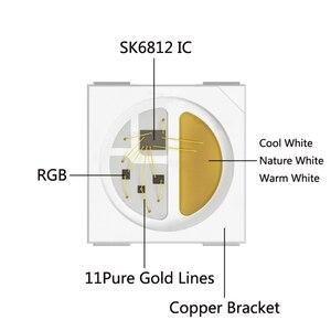 Светодиодная лента SK6812 (аналогичная WS2812B) RGBW 4 в 1 30/60/144 светодиодов/пикселей/м индивидуальная Адресуемая IC Светодиодная лампа IP30/IP65/IP67 DC5V