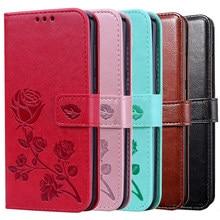 Carteira de couro Capa Stander para Samsung Galaxy A50 50S A60 A70 70S A80 A90 A10 10S 10E A20 20S 20E A30 30S Caso Flor