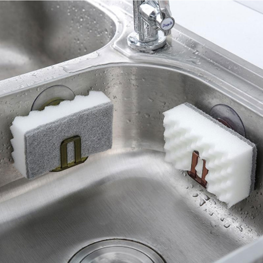 H293a29dd040a4c8f9d205947d788545dF - Suction cup gutters asphalt sponge storage rack kitchen sink soap rack asphalt shelf shelf