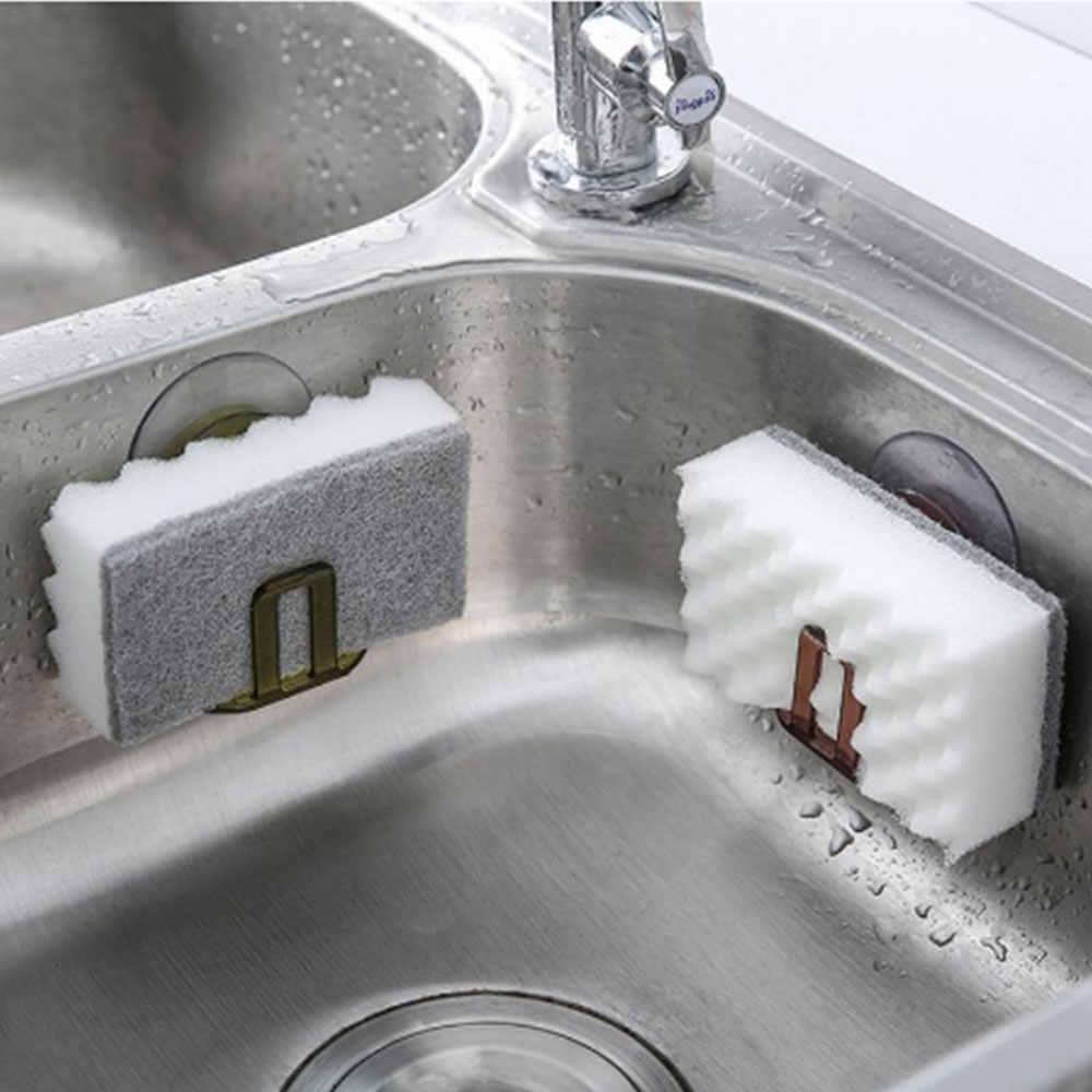 ดูดถ้วยรางยางมะตอยฟองน้ำ rack kitchen sink soap rack ยางมะตอยชั้นวาง