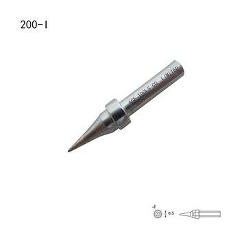 Punta de soldadura cónica de repuesto de 0,5mm QUICK 200-I para 203 203H 204 204H 203D 376(I) 376D(I) 20H-90 boquilla de puntas de hierro para soldadura