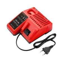 цены M12-8C Tool Battery Charger 110-240V Li-ion Battery Charger for Milwaukee M12 M18 48-11-1815 48-11-1828 48-11-2401 48-11-2402
