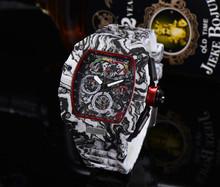 2021 Premium jakość AAA Richard męskie zegarki Top marka luksusowe zegarki męskie Mille DZ mężczyzna zegar kwarcowy automatyczne zegarki na rękę tanie tanio LIWO Luxury ru QUARTZ STAINLESS STEEL Nie wodoodporne CN (pochodzenie) Klamra 15mm Hardlex 22inch Skórzane 44mm RUBBER