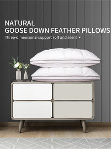 Feather-Pillows Sleeping-Bed Home-Textile White-Duck/Goose-Down Design Brand Khanun 3D