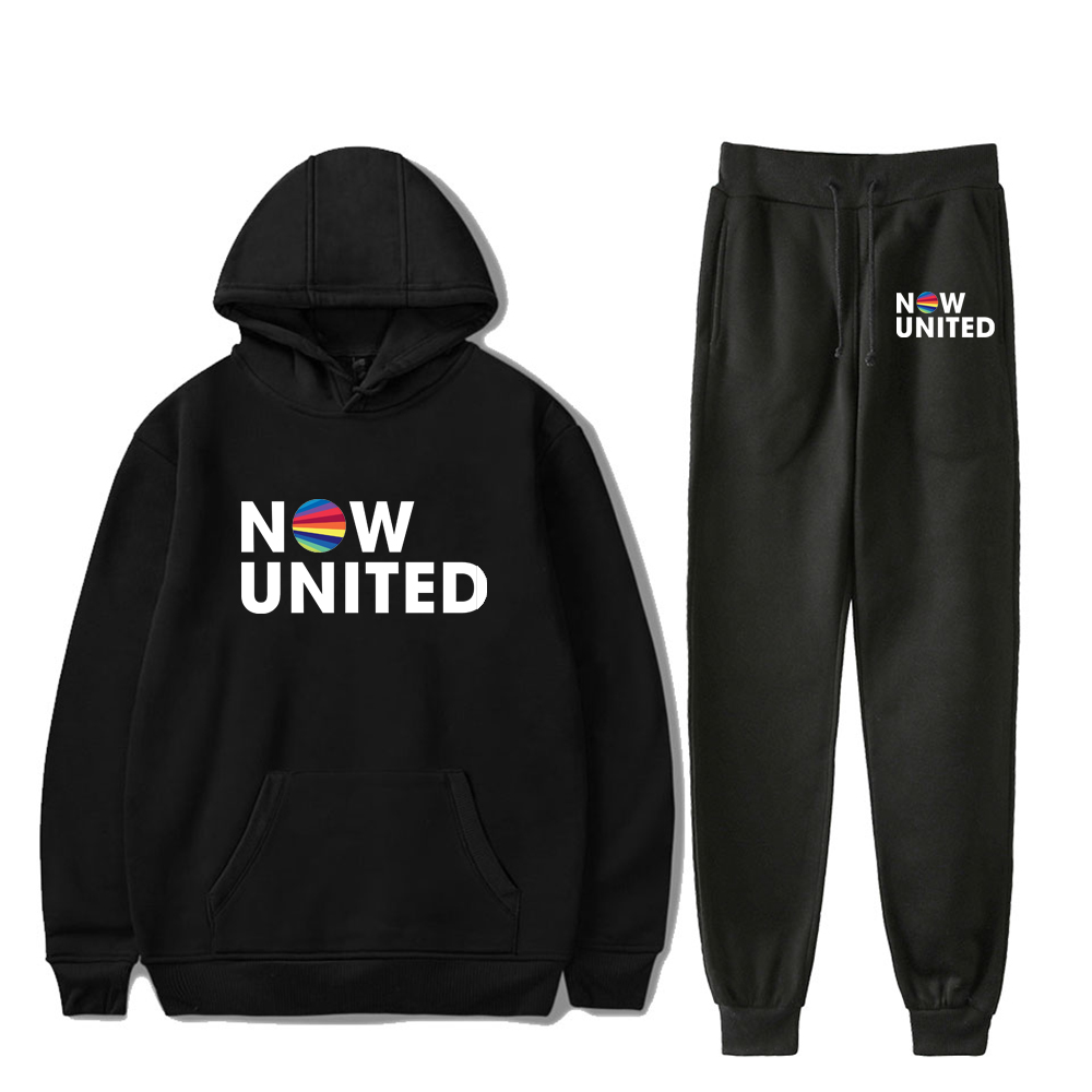 2020 Now United Sweatshirts Two Piece Set Tracksuit Long Sleeve Hoodies+Jogger Pant Hip Hop Style Fashion Clothes Men