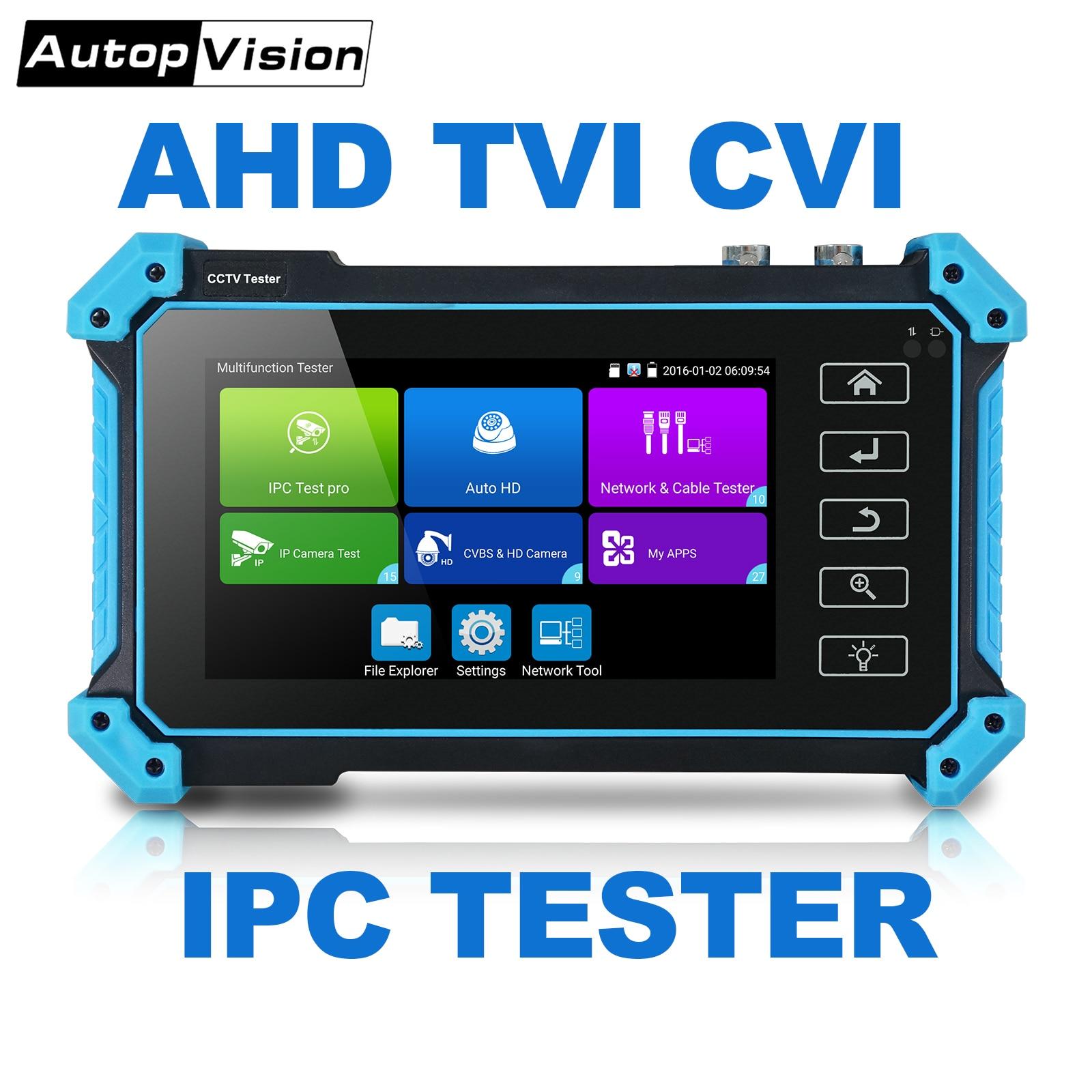 El mejor probador de CCTV coaxial HD de red de 5 pulgadas, monitor IPC5000 PLUS, herramienta de prueba HIKVISION Dahua, cable de red TDR, prueba WIFI POE