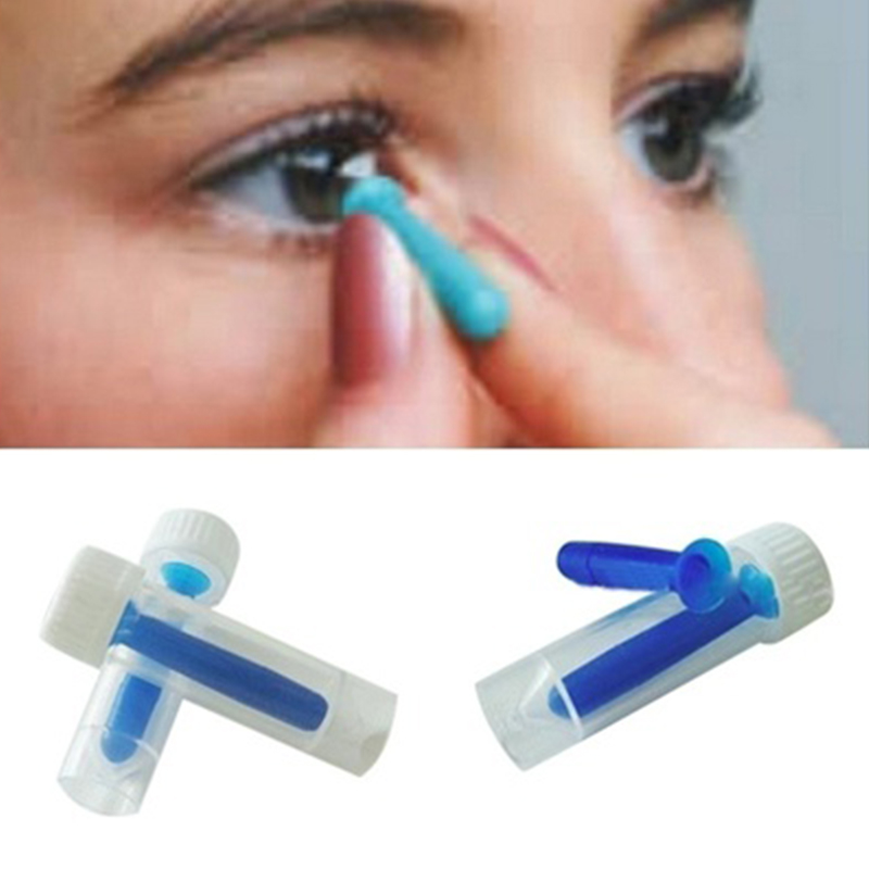 1pcs Portable Contact Lens Inserter Remover For Color /Colored /Halloween Contact Lenses Sucker Silicone Beauty Makeup Tools