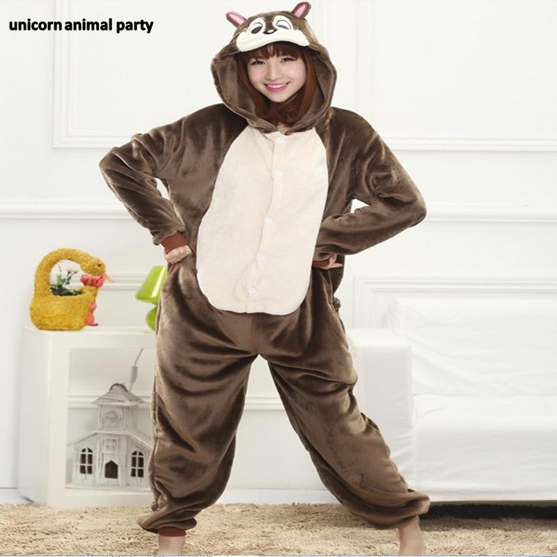 Kigurumi Pyjamas adultes Chipmunk Pyjamas de noël unisexe Pyjamas animaux Costumes Cosplay vêtements de nuit de dessin animé Halloween take