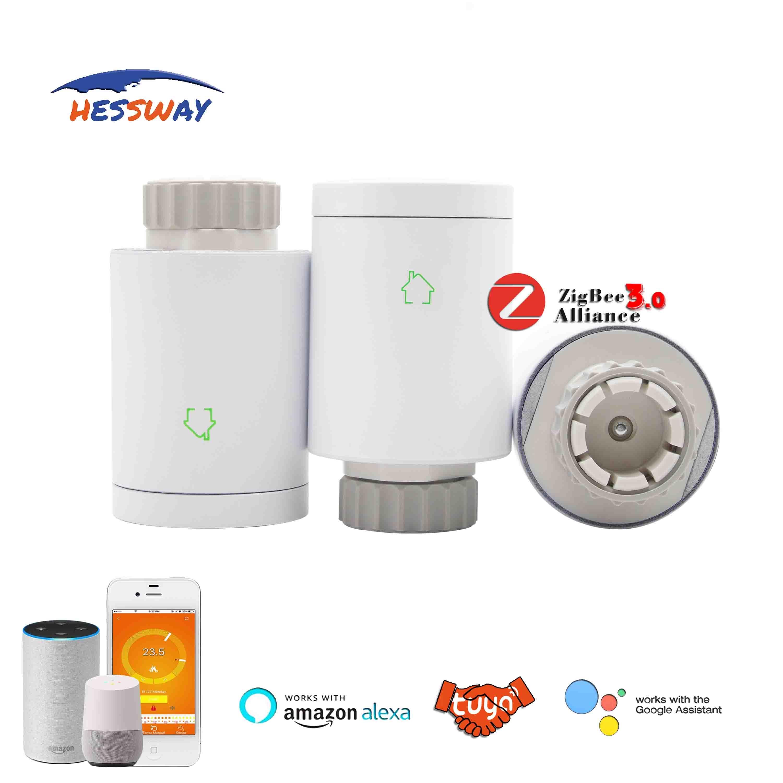 TUYA WIFI Program Zigbee Radiator Thermostat On Off Controller For Radiant Floor Heating Self Group 2.4GHz 868MHz 915MHz