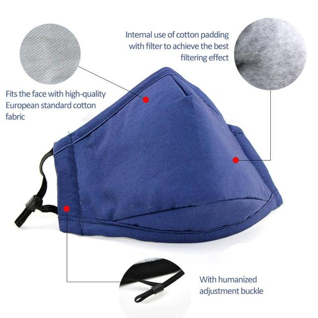 Outdoor PM2.5 Safety Mouth Mask Facial Protective Cover Anti-Dust Mouth Cover Anti Flu Virus Pollution Windproof Face Mask
