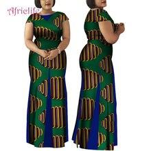 Robe Africaine longue en Bazin pour femmes, vêtement nouveauté pur coton, style sirène, WY4148, 2021, grande taille