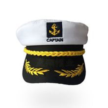 Military Nautical Hat White Yacht Captain Navy Cap Marine Skipper Sailor Costume For Adults Party Fancy Dress Cloth