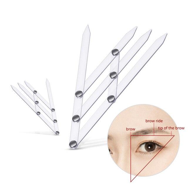 1 pcs Reusable Semi Permanent Eyebrow Ruler Eye Brow Measure Tool Eyebrow Guide Ruler Microblading Calliper Stencil Makeup Tools