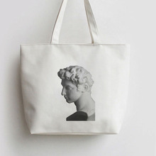 Roman stone statue Reflections on the Renaissance Canvas Tote bag Cartoon Shopping bags AN401