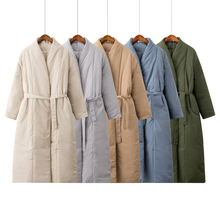 Thick Coat Outerwear Parka Maxi Oversized Warm Women Winter New-Design Belt Casual Long