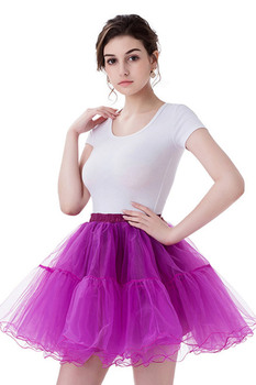 W magazynie kobiety Tutu halki krótki tiul podkoszulek balet sukienki do tańca 2019 halki księżniczka plisowana siateczka podkoszulek tanie i dobre opinie xunbei NYLON Poliester Dla dorosłych CPA1089 Szydełkowane Kiecka Women Petticoat 11 Colors Available One Size Short Petticoat