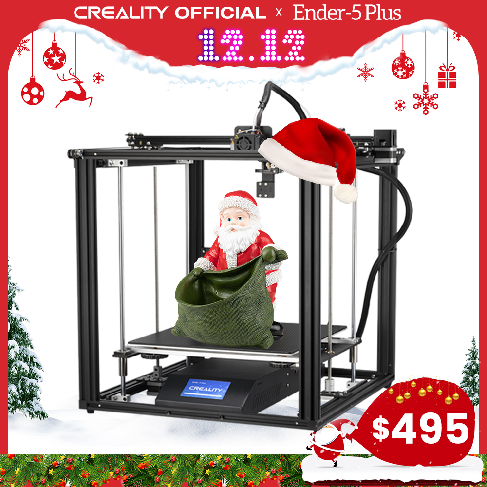 Permalink to CREALITY 3D Printer Ender-5 Plus Dual Y-axis Motors Glass Build Plate Power off Resume Printing Masks Enclosed Structure