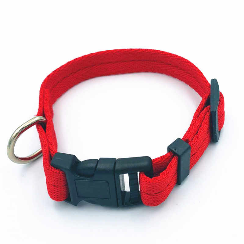Regulowany 7 kolory nylonowa obroża dla psa obroża dla zwierząt obroża dla psa lub kota artykuły dla zwierząt gorąca sprzedaż