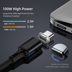 Image 2 - Magnetic Dual Type C Cable 5A PD Fast Charging Wire For Notebook 20V 100W Type C Data Cable For Samsung S9 S8 For Huawei P20
