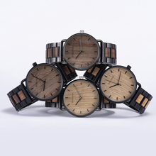 reloj hombre BOBO BIRD Wood Watch Men Quartz Wristwatch Casual Luxury Wooden Strap Gift For Him dropshipping часы мужские