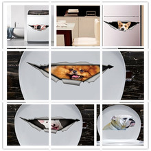 2019 Home Decor Removable animal Funny Bathroom Toilet Seat Art Wall Sticker wall decals kitchen wall stickers