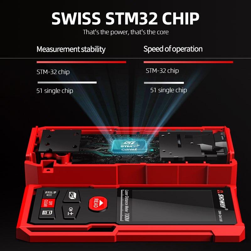 Tools : SNDWAY digital laser rangefinder 120m 100m 70m 50m rangefinder electronic roulette Trena tape measure measuring tool ruler