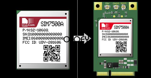 SIM7500A MINIPCIE LTE Module , 100% Brand New Original, SIM7500
