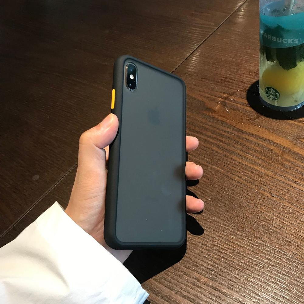 Luxury Matte Transparent Armor Phone Case for iphone X XR XS MAX 7 8 6S 6 Plus Hybrid TPU Tough Shockproof Protection Cover Capa in Fitted Cases from Cellphones Telecommunications