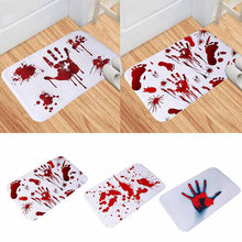 Blood Footprint Bath Mat Door Mat Scary Horror Style Halloween Decoration Hot(China)