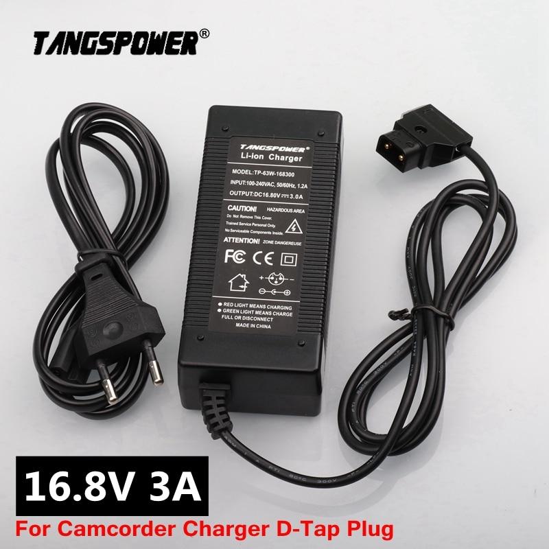 16 8V 3A D-Tap Battery Charger for Camcorder V Mount   V Lock Battery Pack Camera Battery Camcorder Power Adapter dtap Plug