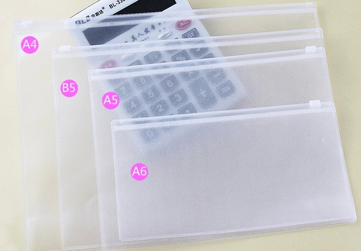 QSHOIC 12PCS A4 A5 A6 B5 Plastic File Folder A4 File Folder Transparent Wholesale Filing Product Plastic File Folder Document