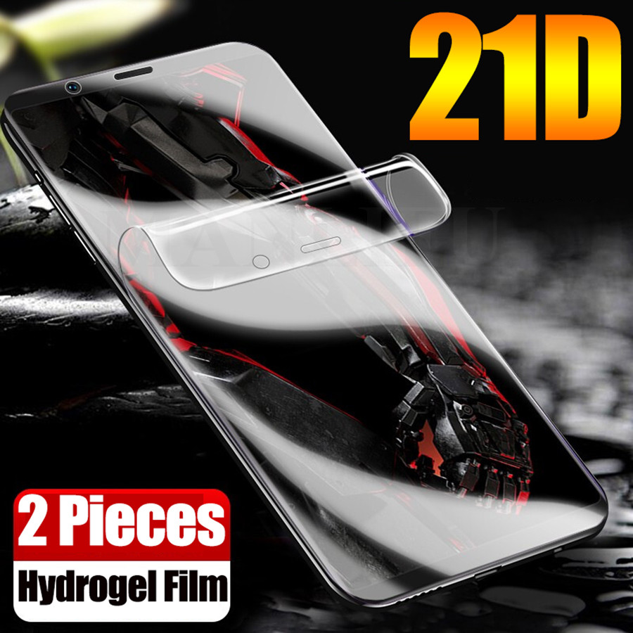 2Pcs 21D Silicone Hydrogel Film For ZTE nubia Z18 Z17 Z11 minis z17s M2 Lite Mars Front Full Cover Screen Protector(Not Glass)(China)